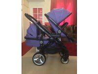 iCandy Peach 2 Parma Violet Double Pram Pushchair CAN POST