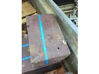 Brown concrete roof tiles
