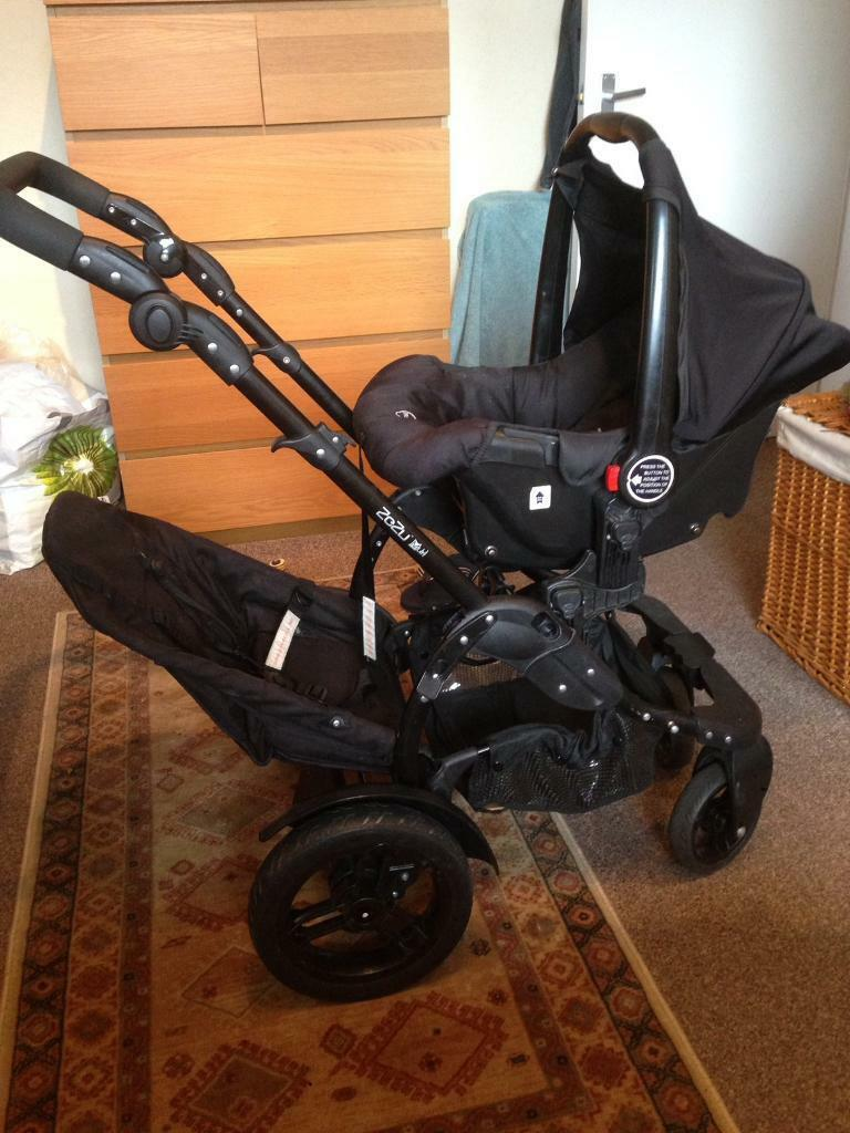 OBaby Zezu Multi Pushchair with car seat & tandem seat. Double ...