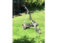 Powercaddy Freeway Titanium Electric Trolley with Powercaddy Charger