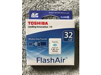 Toshiba FlashAir 32GB Memory Card Never Used