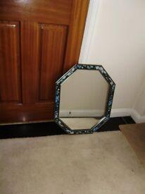 Mirror, floral design frame
