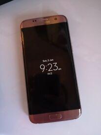 Rose gold Samsung galaxy s7 edge 32gb