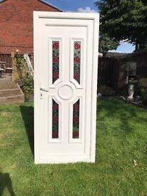 UPVC DOOR decorative glazed