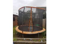 8ft trampoline with netting. 1 year old excellent condition