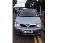 Vauxhall Meriva, 2008 Model, 1.6 Pertol, Blue, 79K Mileage Only, East London