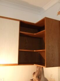 Wall storage suited to Kitchen or Office-2 x end units and 2 x cupboards with doors.