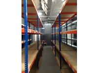JOB LOT 20 bays Rapid 1 industrial long span shelving ( pallet racking , storage )