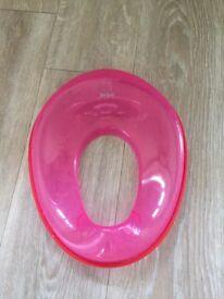 Tippitoes pink toddler toilet seat