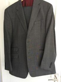 Men's M&S Sartorial grey suit with 2 x trousers; jacket 42L, trousers 36L
