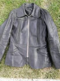 Ladies leather jacket.