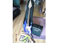 Bass guitar outfit complete setup: Marshall & Squier by Fender