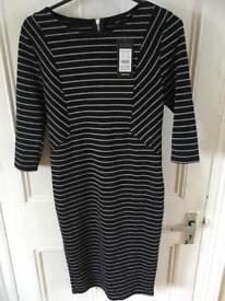 BRAND NEW WITH TAG new look size 14 bodycon smart dress navy