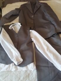 2 boys grey 3 piece suits