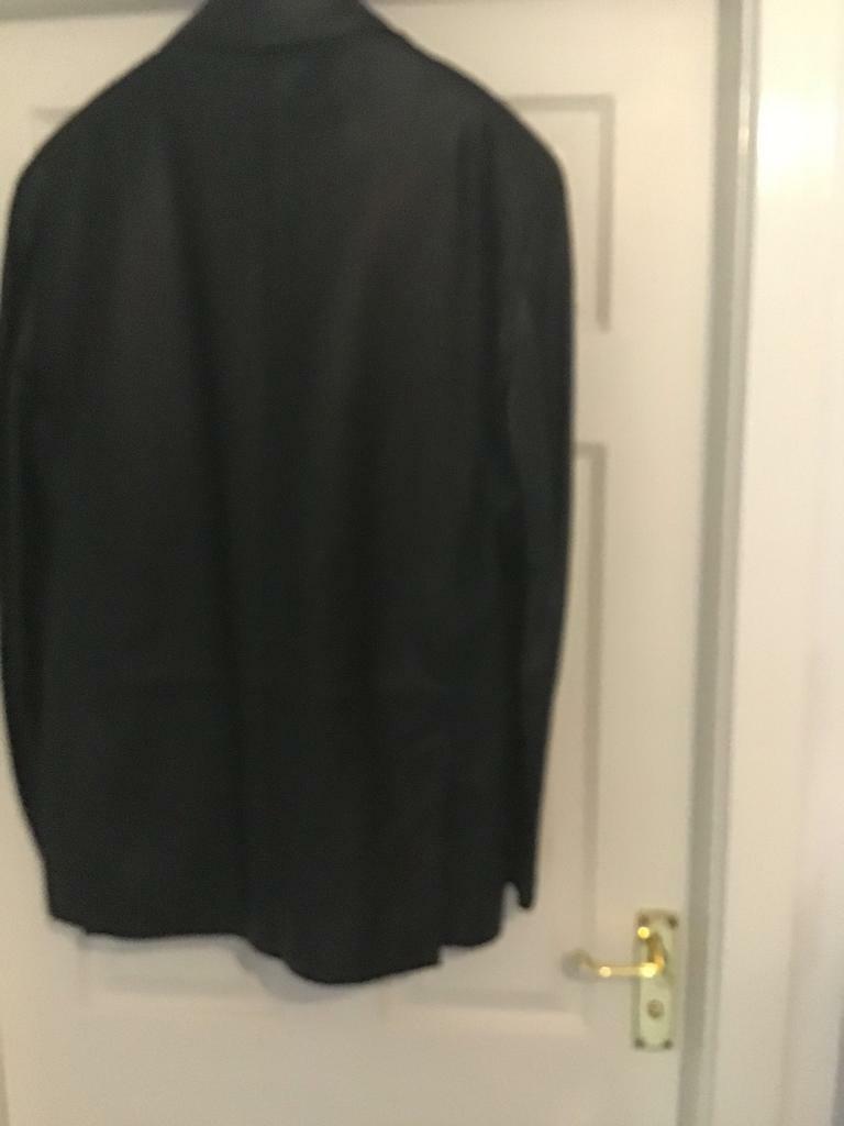 c09ec843d Men's black M and S leather jacket   in Liversedge, West Yorkshire   Gumtree