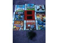 Nintendo Ds lite with 8 games