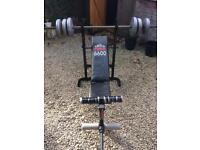 York 6600 weight bench + weights