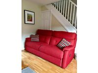 Recliner 3 seater sofa and armchair