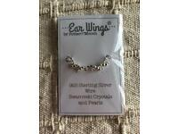 Ear wings ear rings 925 Silver. New