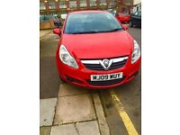 RED VAUXHALL CORSA NEW SHAPE, 46K MILES, TOUCHSCREEN BLUETOOTH, DVD PLAYER, DOUBLE DIN INSTALLED