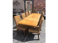 ** SOLD ** Oak Table with Chairs
