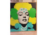 Large Marilyn Monroe pop art wall decoration