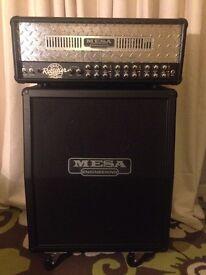 Mesa Boogie Dual Rectifier Multiwatt Amplifier Head WITH Vertical 2x12 Recto Cabinet