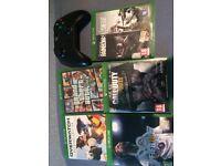 XBOX ONE CONSOLE + 5 GAMES (GTAV, FIFA 18, COD WW2) £160