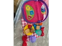 Leapfrog picnic basket and toys