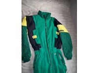 Campri ski-suit size Large green and yellow