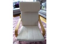 Ikea Poang Chair - Birch Frame with Natural Colour Cushion - Ex Cond