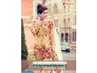 FEPIC ROSEMEEN CRAFTED LAWN NX WHOLESALE PAKISTANI DRESS MATERIAL