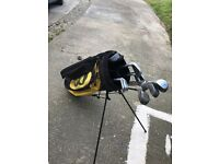 Golf clubs (full set excluding a 6 iron) and bag
