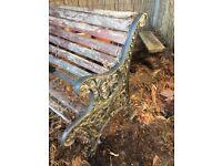 Garden bench- metal ends