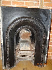 Cast iron fireplace from late Georgian Farmhouse