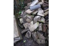 Broken concrete paving rubble. Free for collection.