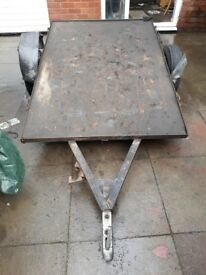 CAR BIKE TRAILER FLAT BED 6X 4 FEET