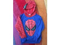 Spiderman top with hood size 4 years