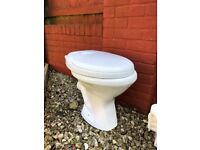 Toilet with Cistern, Seat and Radiator