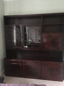 Large Mahogany Dark Wood Display unit