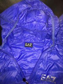 Medium men's blue EA7 padded jacket