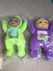 Brand new tinky winky and dipsy teletubbies soft toys.