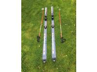 Dynastar 200cm Skis with Bindings and Poles & Size 11 Raichle RE5 Ski Boots