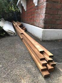 Red Cedar wood slats