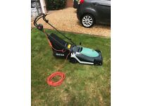 Hayter electric lawnmower.