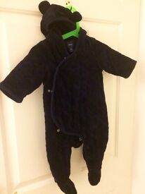 Baby GAP snowsuit, cosytoes, all in one, size 3-6 months in excellent condition