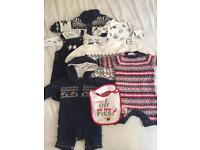Christmas clothes bundle, baby boy 0-3 months
