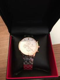 Thomas Jenson Rose Gold Face With Metal Strap