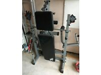 weight lifting bench, including arms and legs weight lifting