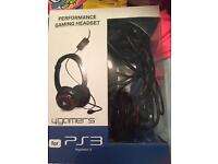PS3 4 gamers gaming headset